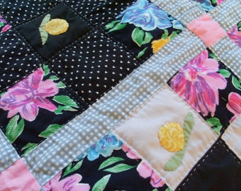 Baby Quilt, Hand Quilted, Made in America