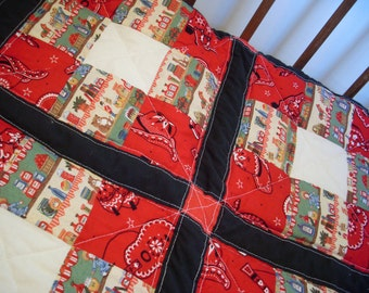 Western Crib Quilt, Bandana and General Store