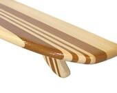 The Bigger Kahuna 6 ft Classic Stripe Longboard Shelf