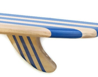 On Sale  Big Kahuna 4 ft Wooden Surfboard Shelf Natural Wood Multiple Colors