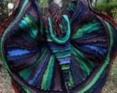 SuperDuperUbberAwesome Custom Kaleidoscope gypsy  faery  patchwork  upcycled  recycled sweater coat