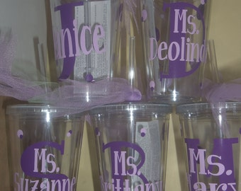 Personalized Decorated Tumblers - Bridesmaids, teacher gifts, teams