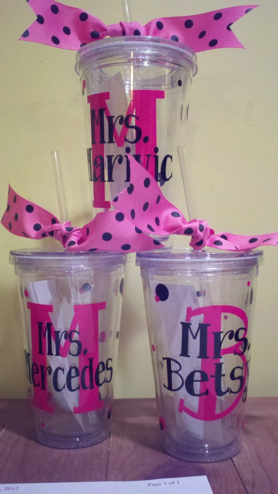 Personalized Tumblers, Teacher Appreciation, End of  year, teams, friends, moms, grads