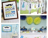 DIY printable Full Collection : LITTLE MAN mustaches n'  ties