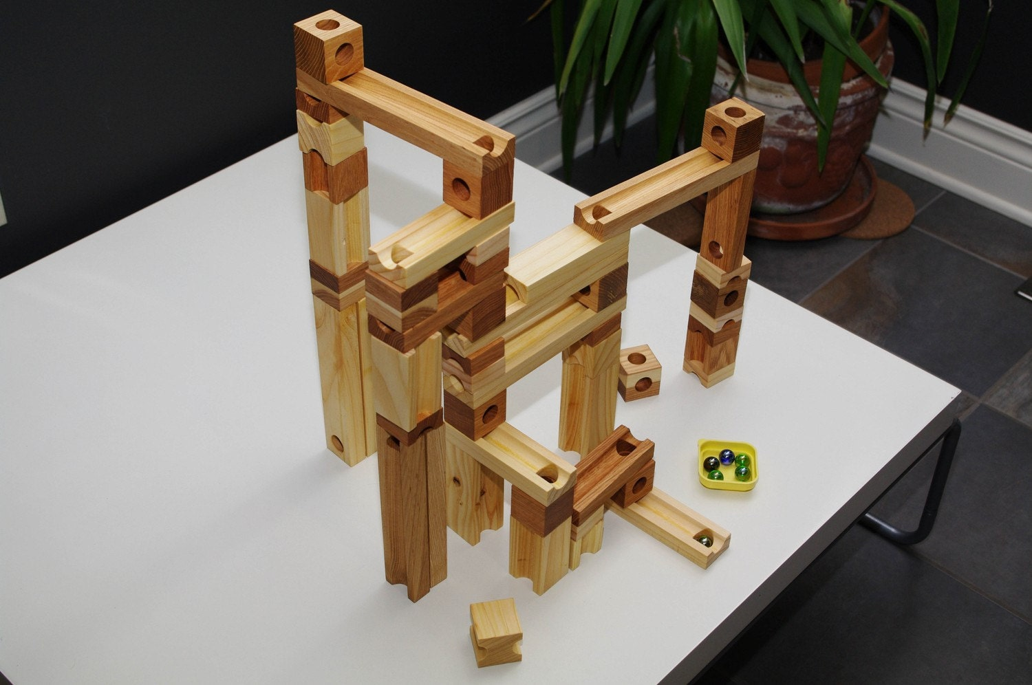 Custom Listing For Constance Wooden Marble Run Toy