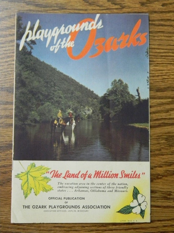 Vintage 1950's Playground of the Ozarks travel guide