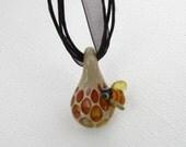 Bumble Bee Honeycomb Pendant