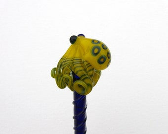 Blue Ringed Octopus Glass HairStick