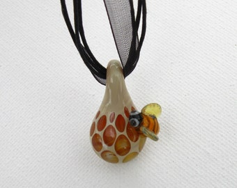Bumble Bee Honeycomb Pendant