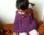 PDF Knitting Pattern - Chunky Cables Cape for Toddler