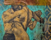 Tango Dancers and Floor Pattern (collage no. 48)