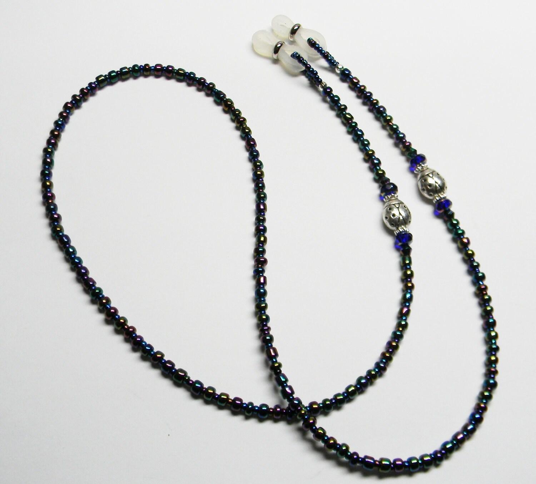 beaded eyeglass chain peacock ladybugs handmade glasses holder