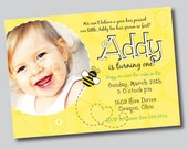 Bumble Bee Party Collection - PRINTABLE INVITATION by Itsy Belle