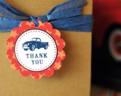 Vintage Truck Party Collection - PRINTABLE PARTY CIRCLES by Itsy Belle