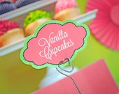 INSTANT DOWNLOAD Sweet watermelon Collection - PRINTABLE Fancy Shaped Candy buffet Labels by Itsy Belle