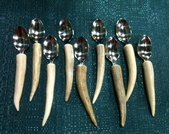 Antler Handled Demi Serving Spoon