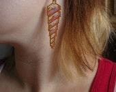 Pattern for seashell earrings