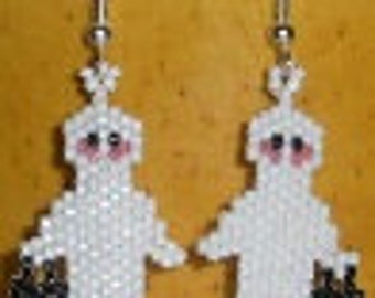 BEADING PATTERN   for Earrings or charm Ms.Ghosties night on the town