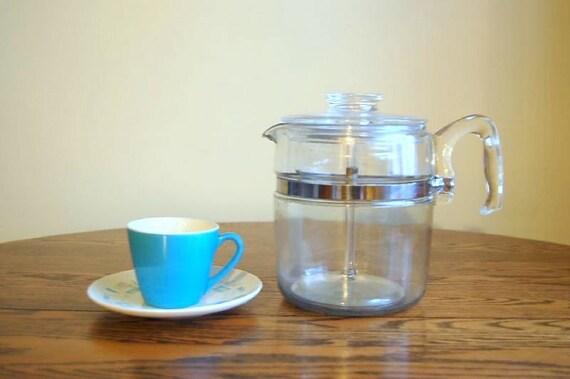 Vintage Pyrex Nine Cup Coffee Percolator