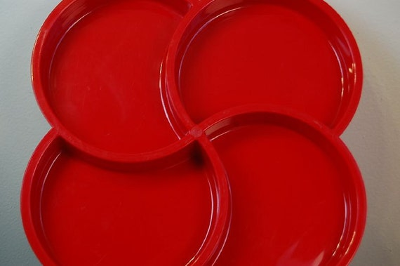 Vintage Red Dansk Gourmet Designs Mod Serving Tray