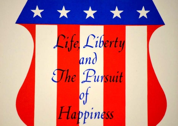 Vintage Life Liberty and the Pursuit of Happiness Ceramic Patriotic Screencraft Tile