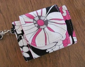 Runaround Wristlet - Cell Phone Wallet - Event Bag in Zebra Poppy