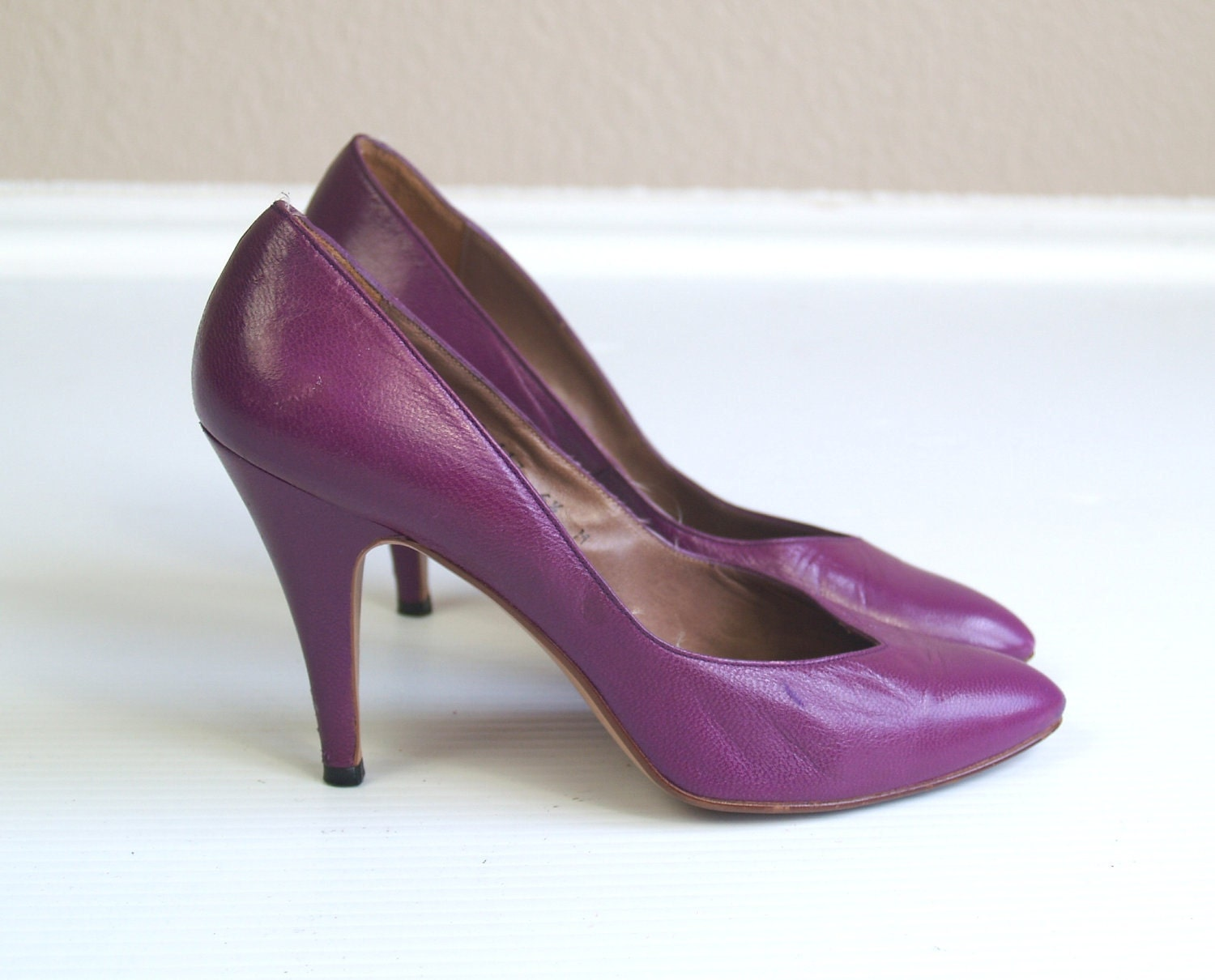 Purple Leather Heels