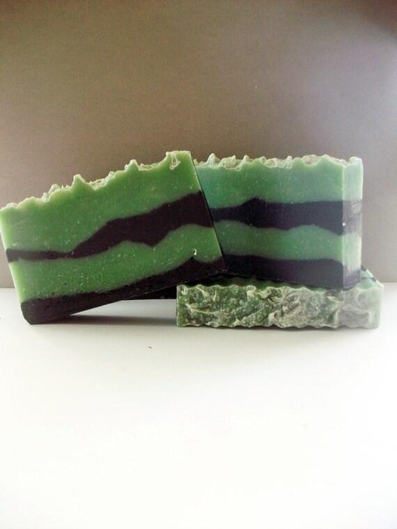 The Big Cloth- Green Irish Tweed-cold process soap