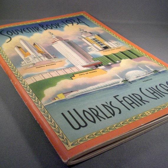 Vintage Souvenir Book- 1934 World's Fair Chicago