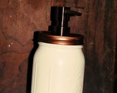 Mason Jar Soap Dispenser Copper