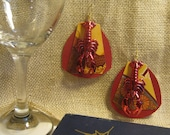 Lobster Mucha Earrings