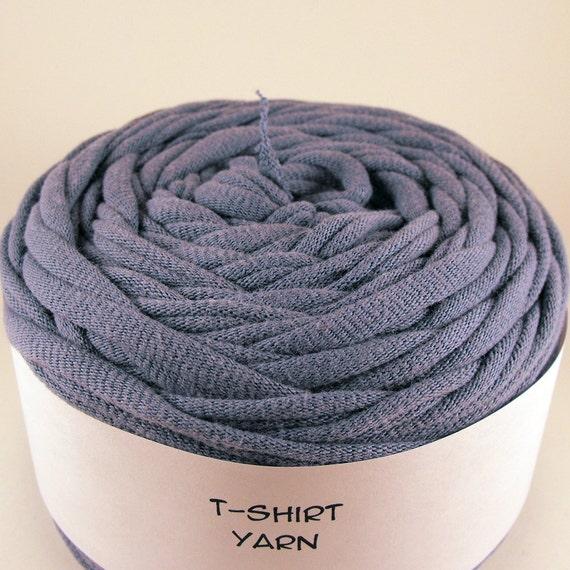 Cotton Tshirt Yarn, Dark Sky Blue, 39 yards, 6 wpi