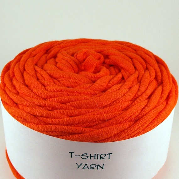 Cotton Tshirt Yarn, Orange, 36 yards, 5 wpi (294)