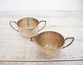 Silver Cream and Sugar Set Vintage by Pairpoint W.M. Mounts