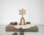 Snowflake Bell Brass Holiday Decor Winter Home Decor theteam