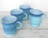 Vintage Mugs Ombre Gradient Blue