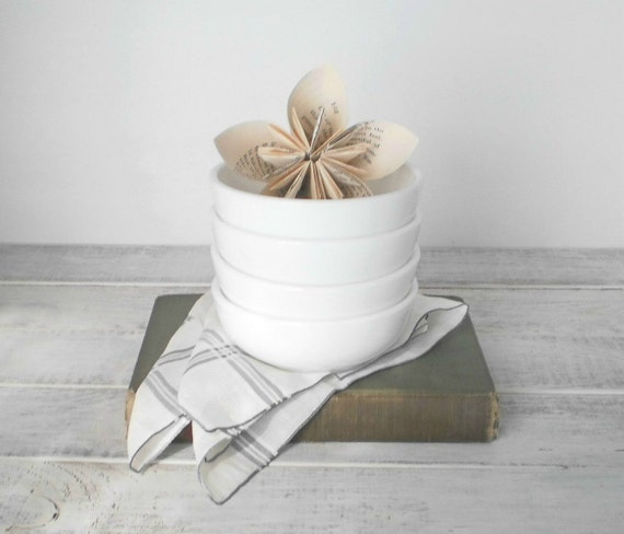Black Friday Cyber Monday Milkglass Milk Glass Bowls Spice White Vintage Kitchen Shabby Hostess Gift Under 25