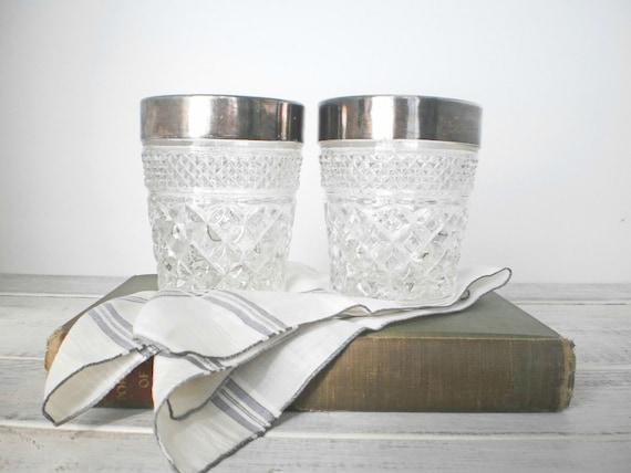 Black Friday Men Silver Trimmed Barware Crystal Old Fashioned Glasses Whiskey Tumbler