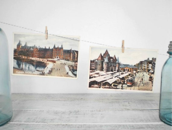 Vintage Postcards Amsterdam Winter Collection Series 1 Affordable Art projectt eclectict helloteam tbteam