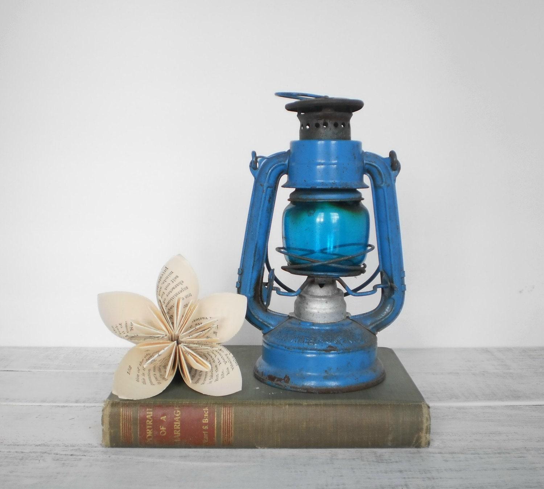 Blue Railroad Lantern Wingedwheel 350 Cobalt Winter Home Decor