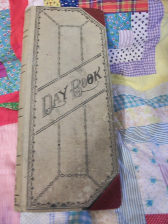old general ledger day book dated 1945