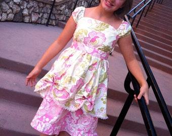 Size 8/10 English Garden Piano Music Recital Cotton Dress