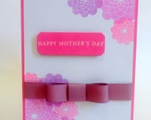 """Greeting Card -- Mothers Day Card - Flowers for Mom YOU PICK - Pink & Purple4.5"""" x 6.25"""" (A6)"""