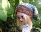 PATTERN - Forest elf colourful slouchie hat for Blythe dolls INSTANT DOWNLOAD