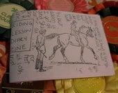 Riding Lesson Diary Zine