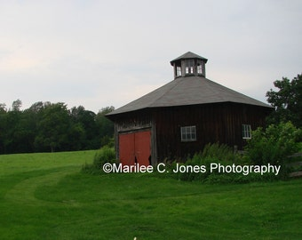 Round Barn With Red Door Fine Art Vermont Photo Print: Multiple Sizes Available