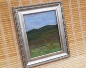 Landscape Moorlands view - Needle felted picture