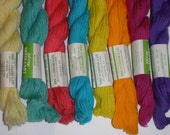 8 Skeins 2Ply triple strand Wool Needlepoint Yarn 320 yards Variety Pack new vintage stock