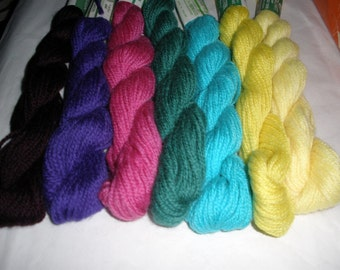 7 Skeins Persian Wool 3ply Needlepoint Yarn 280 yards Variety Pack new vintage stock crewel embroidery HTF colors