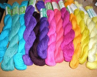 12 colors Persian Wool Needlepoint Yarn 3 ply You choose 1 skein Tapestry new vintage stock Crewel Embroidery Knit Felt
